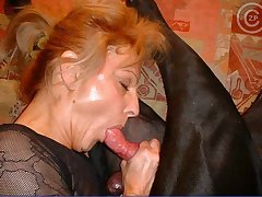 Hot girl sucking massive dog cock for warm cum