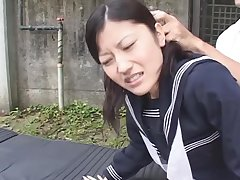 Asian teen lady force to sucking a renowned dog cock