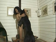 Latina wife hard raped by a her big black dog